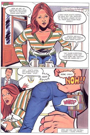 Humiliation comics. Hot mom entertaining the boys.