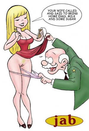 Porn comics. Old man satisfies young pussy!
