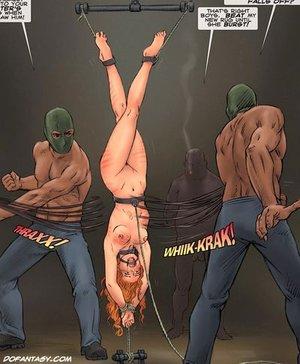 Sexy redhead slave girl