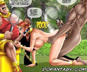 Bdsm art playing tennis