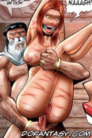 Bondage cartoons redhead naked