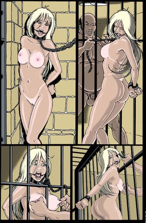Bondage art chick tied