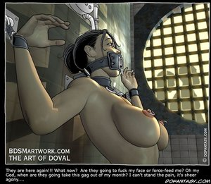 Bondage comics fuck face