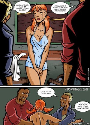 Slave girl comics cowhide