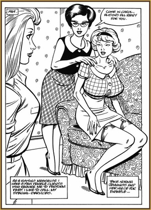 Cartoon porn comics. Housewives.