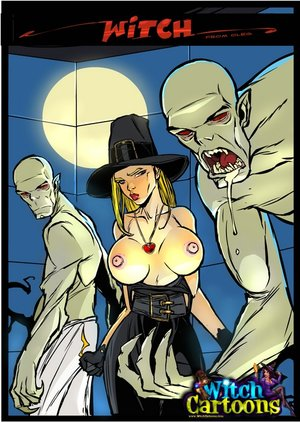 Toon sex. Ghouls make witch eat cum.