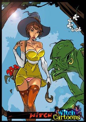 Cartoon porn. Sorceress's twat offered to ogre.