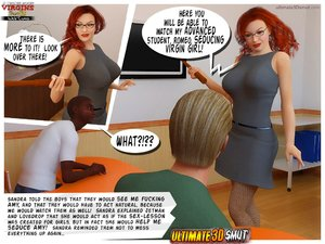 Redhead slutty teacher giving
