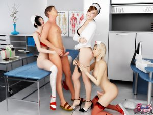 Hospital orgy afternoon nerdy