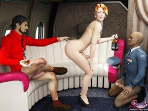 Sexy flight attendant dick