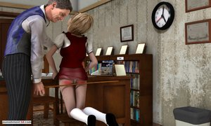Young cutie caned by distinguished gent