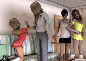 Teen friends caught playing a spanking game