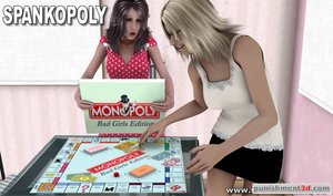 Sexy spanking incorporated into board game play