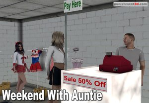 Sexy clothes shopping with her auntie
