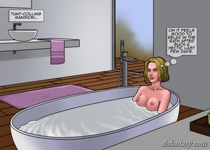 Sensual bathing glory hole