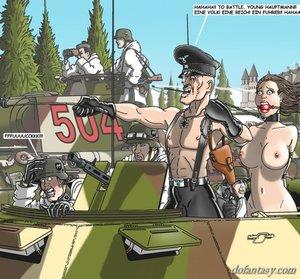 Military men gagged slut