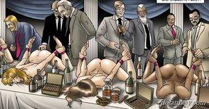 Bound ladies served horny