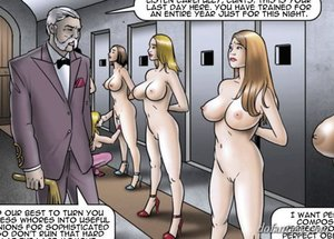 Big-titted slaves obey society