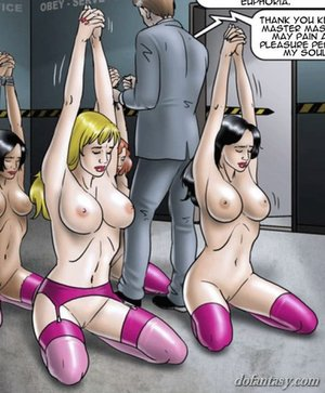 Submissive slaves trained bound