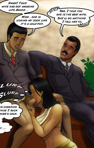 Wife orally services her husband and her boss