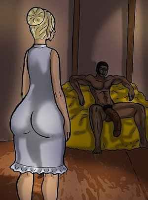 Hung black man intrigues a slutty blonde
