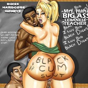 Lebanese teacher is a black cum slut