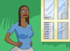Ebony knockout lives a double life as a heroine