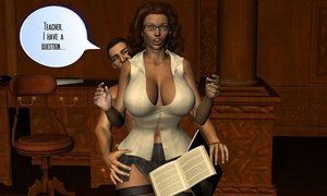 Horny boy sets his slutty teacher up for blackmail