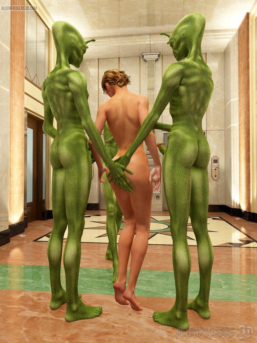 Alien Gangbang green aliens gangbang a blue-eyed hottie - hqporncolor