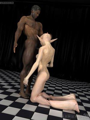 Black man uses his huge tool on a hot alien