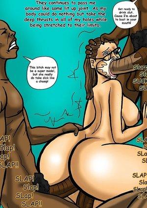 Black men gangbang a basic bitch who loves dick