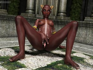 Black beauty shows off her beautiful pink twat