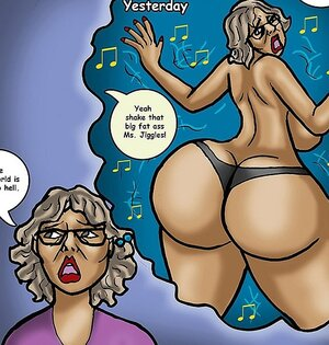 Old broad shakes her huge money maker