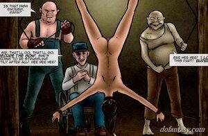 Naked slave humiliated hung