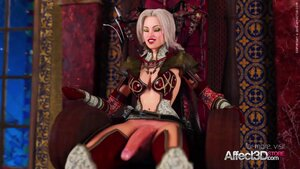 3d blonde futa with monster dick