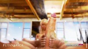 Huge tits lesbian futa tantric sex
