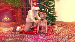 3d santa presents his dick for christmas