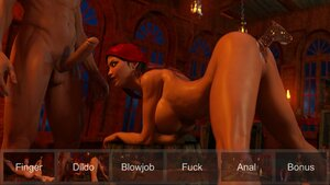 Hot action on 3D sex game