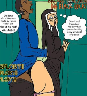 Horny black boy ass fucks a virgin nun