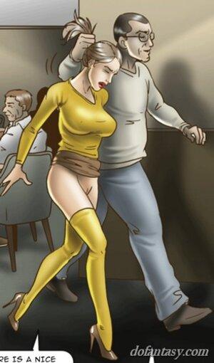 Sex slave fucked public