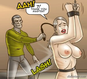 Slave master rough whipping