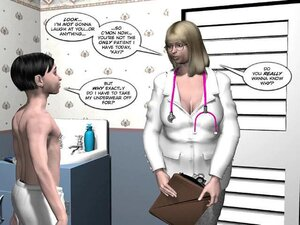 Doctor gets wet seeing young tight naked body
