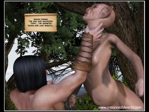 Warrior fight with old elf to fuck younger slut