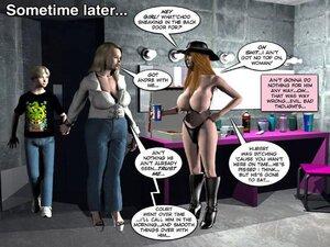 Blonde bitch takes cumshot on boobs