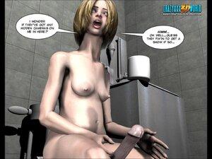 Naughty toon chick enjoys