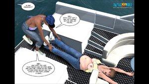Curvy toon milf enjoys drilled hard on the yacht