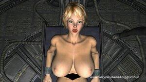 Chesty girls overtaken by aliens