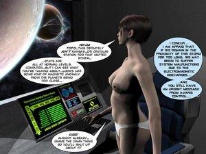 Lively brunette's alien encounter