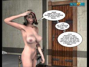 Lady roams around naked