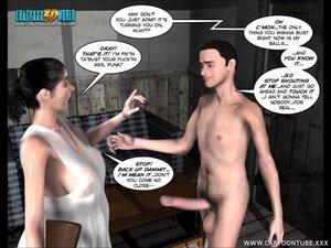 Skinny boy's big dick sticks out